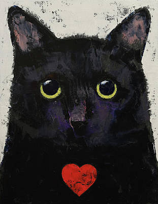 Chat Painting - Love Cat by Michael Creese