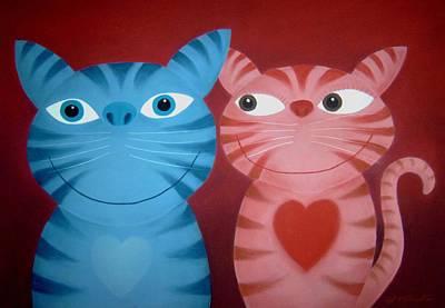 Love Catz Art Print