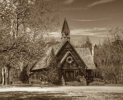 Love Chapel In Sepia Art Print