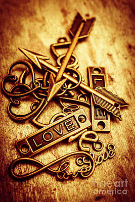 Fashion Jewelry Photograph - Love Charms In Romantic Signs And Symbols by Jorgo Photography - Wall Art Gallery