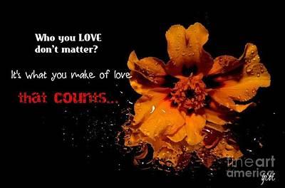 Digital Art - Love Counts by Isaac Khonjelwayo