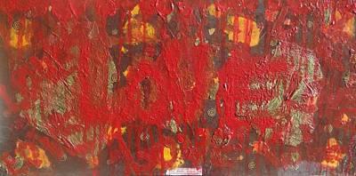 Grafitti Mixed Media - Love Covers by Lisa  Graham