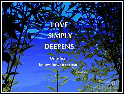 Photograph - Love Deepens by Sybil Staples