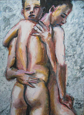 Erotic Painting - Love by Demian Legg