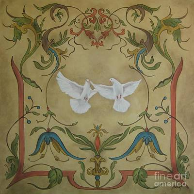 Love Doves Art Print