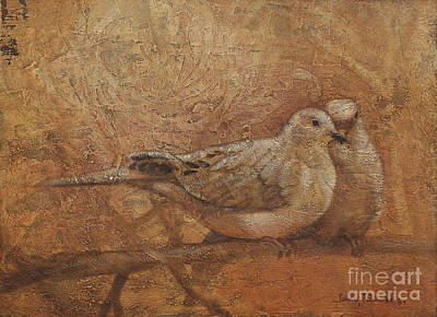 Dove Mixed Media - Love Doves by Sandra Quintus
