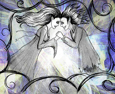 Drawing - Love Eternal by Shawna Rowe