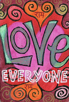 Painting - Love Everyone by Jennifer Mazzucco