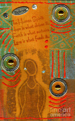 Mixed Media - Love Feeds The Human Spirit by Angela L Walker