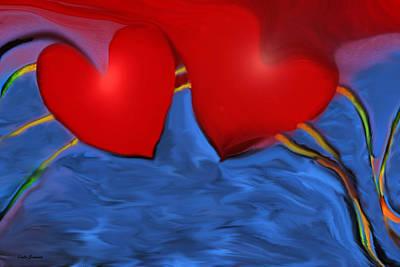 Valentines Day Digital Art - Love Flow by Linda Sannuti