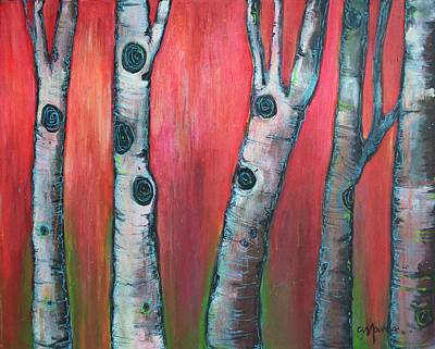 Painting - Love For Aspens In The Morning Light by Laurie Maves ART