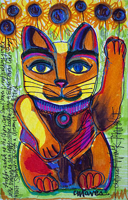 Painting - Love For China Cat by Laurie Maves ART