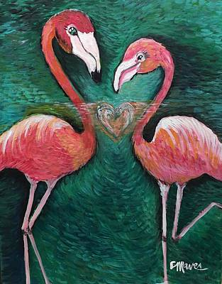 Painting - Love For Flamingos by Laurie Maves ART