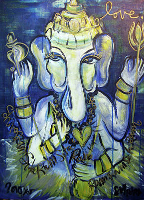 Painting - Love For Ganesha by Laurie Maves ART