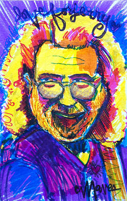 Jerry Garcia Drawing - Love For Jerry by Laurie Maves ART