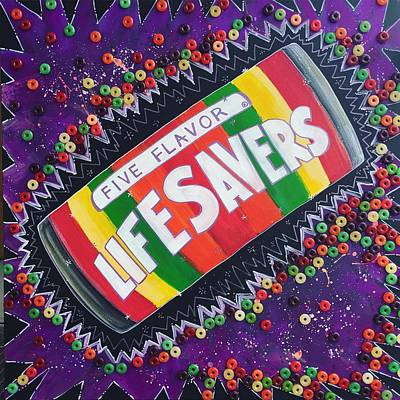 Painting - Love For Life Savers by Laurie Maves ART