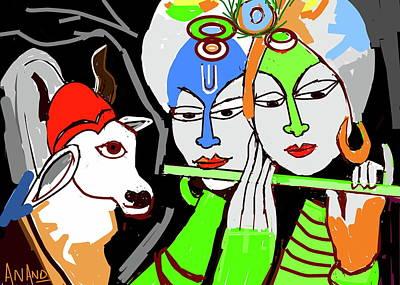 Digital Art - Love For Music by Anand Swaroop Manchiraju