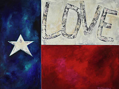Love For Texas Two Art Print by Patti Schermerhorn
