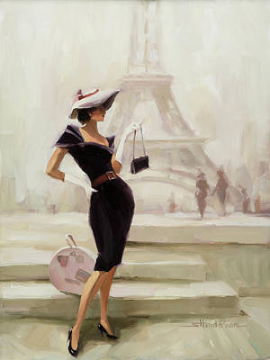 Fashion Illustration Wall Art - Painting - Love, From Paris by Steve Henderson