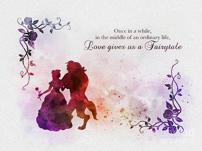 Fairy Mixed Media - Love Gives Us A Fairytale by Rebecca Jenkins