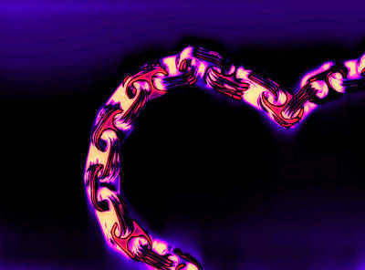 Recycled Digital Art - Love Glows Strong by Dolly Mohr