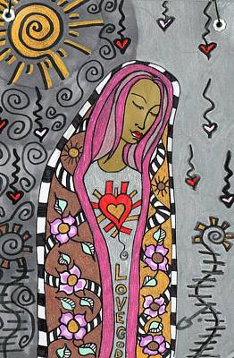Mixed Media - Love God by Agatha Green