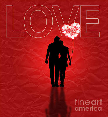 Digital Art - Love Greeting Card by Scott Parker