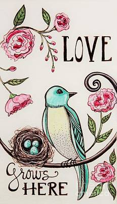Painting - Love Grows Here by Elizabeth Robinette Tyndall
