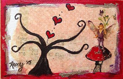 Fantasy Painting - Love Grows On Trees  by Roxy Rich
