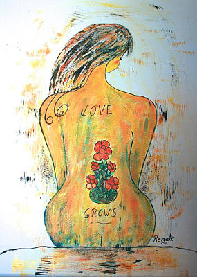Painting - Love Grows.... by Renate Dartois