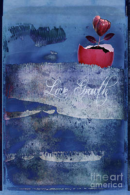 Digital Art - Love Growth - V2t2c3b by Variance Collections