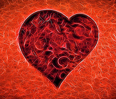 Digital Art - Love Heart # 2 by Allen Beatty
