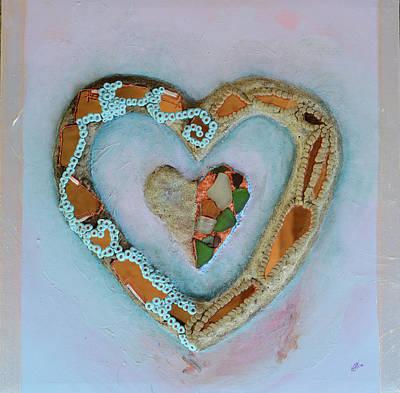 Liverpool Mixed Media - Love Heart by Catt Kyriacou