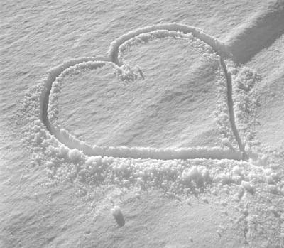 Love Heart In The Snow Art Print by German School