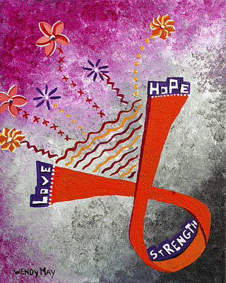 Painting - Love. Hope. Strength. by Wendy May
