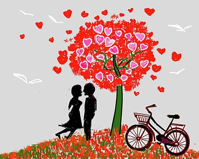 Digital Art - Love In Air by Anand Swaroop Manchiraju