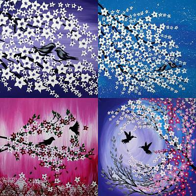 Love In All Seasons Art Print by Cathy Jacobs