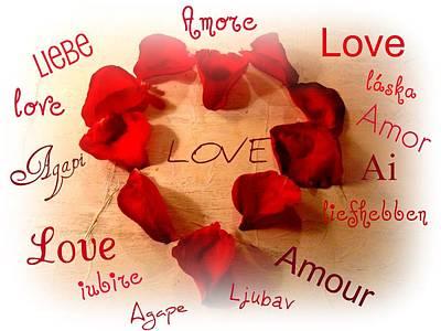 Love In Any Language Art Print by Kathy Bucari