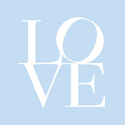 Love In Baby Blue Art Print by Michael Tompsett