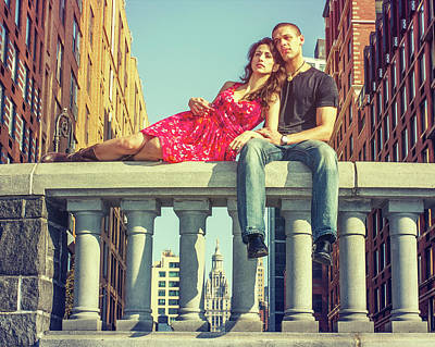 Photograph - Love In Big City by Alexander Image