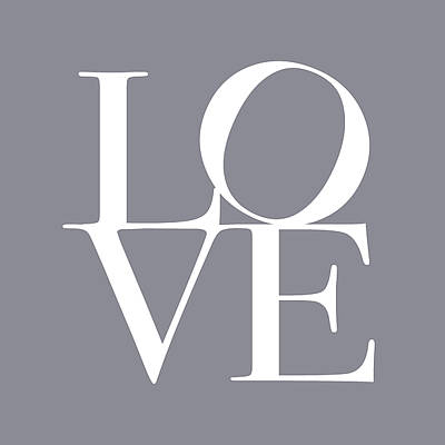 Grey Wall Art - Digital Art - Love In Grey by Michael Tompsett