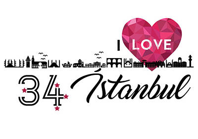 Love In Istanbul Art Print by Emre Yaprak