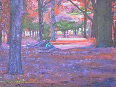 Lal Bagh Painting - Love In Lal Bagh 3 by Usha Shantharam