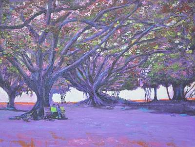 Lal Bagh Painting - Love In Lal Bagh 4 by Usha Shantharam