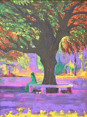 Lal Bagh Painting - Love In Lal Bagh 5 by Usha Shantharam