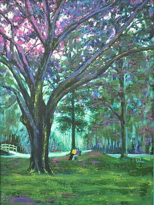 Lal Bagh Painting - Love In Lal Bagh 6 by Usha Shantharam