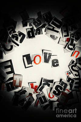 Printers Photograph - Love In Letters by Jorgo Photography - Wall Art Gallery