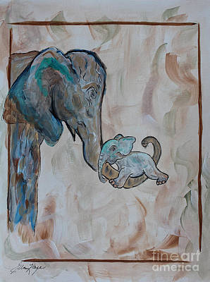 Painting - Love In Momma's Arms by Ella Kaye Dickey