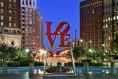 Love In Philadelphia Print by Frozen in Time Fine Art Photography