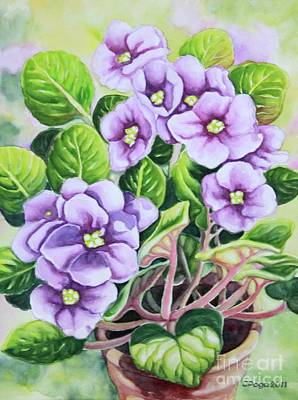 Painting - Love In Purple 1 by Inese Poga